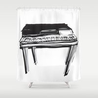 piano Shower Curtains featuring Piano by Melilarebelle