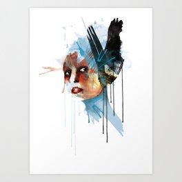 hair bird Art Print