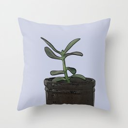 The Plant Bianca Watered Throw Pillow
