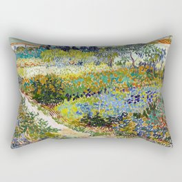 Vincent van Gogh Garden at Arles Rectangular Pillow