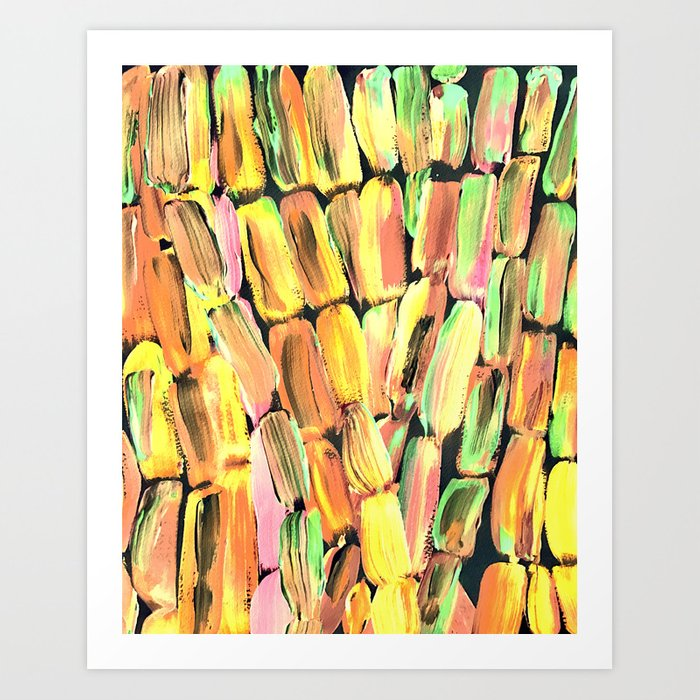Golden Sweet Yellow Sugarcane Art Print
