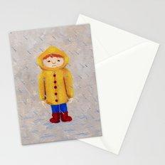 Boy In Rain Stationery Cards