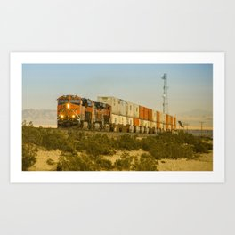 Double Deck Freight  Art Print