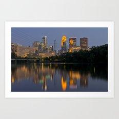 Minneapolis Skyline - Boom Island View Art Print