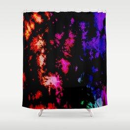 Dark Goth Galactic Rainbow Splatter Shower Curtain