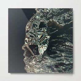 Hologram Drip Metal Print