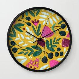 Mustard bouquet Wall Clock