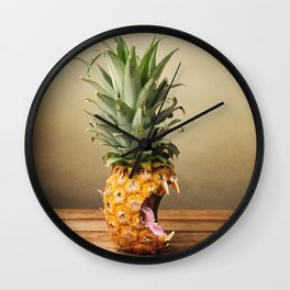 Pineapple is hungry Wall Clock