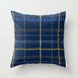 Smash The Patriarchy - A Tartan Text Print Throw Pillow