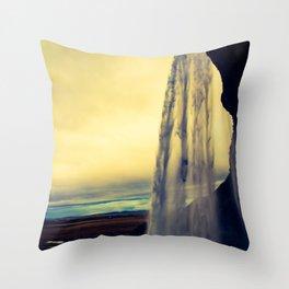 seljalandsfoss sunset Throw Pillow