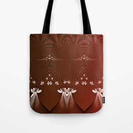 Daisy Delight Brick Red Tote Bag
