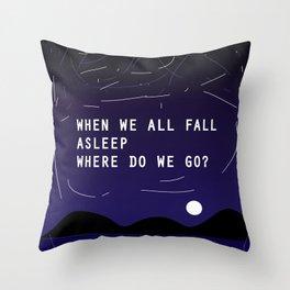 Billie's lyric- Bury a friend Throw Pillow