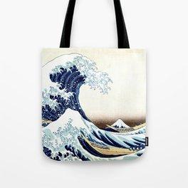 The Great Wave off KanagawA muted Tote Bag