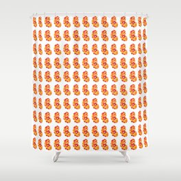 Jelly bean inception pattern Shower Curtain