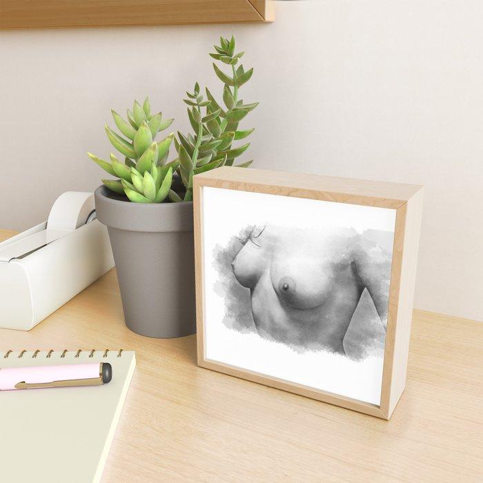 Sexy nude woman Framed Mini Art Print