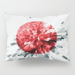 Japanese Flag Extrude Pillow Sham