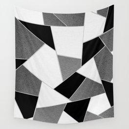 Gray Black White Geometric Glam #1 #geo #decor #art #society6 Wall Tapestry