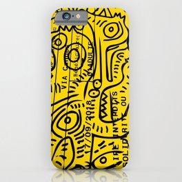 Yellow Street Art Graffiti Train Ticket iPhone Case