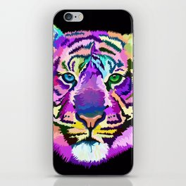 popart tiger iPhone Skin