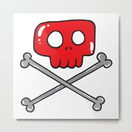 Cute little pirate sign Metal Print
