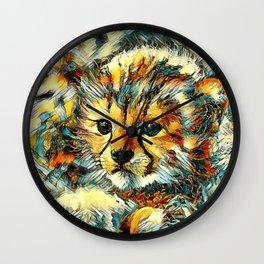 AnimalArt_Cheetah_20170602_by_JAMColorsSpecial Wall Clock
