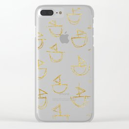 gold boat scribbles Clear iPhone Case