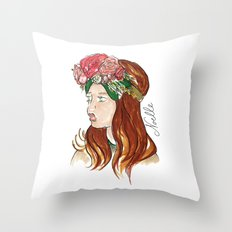 Ellie Rose Throw Pillow