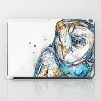 glass iPad Cases featuring The Sea Glass Owl by Abby Diamond