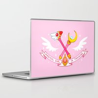 magical girl Laptop & iPad Skins featuring Magical Girl In Training by mimia