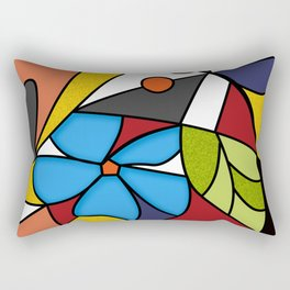 Abstraction. Curves and bends. Color mosaic . Rectangular Pillow