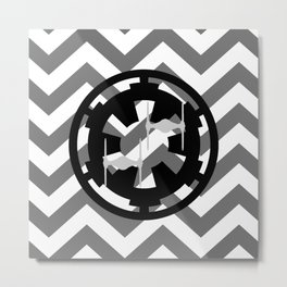 Star Wars Imperial Cog and Tie Fighters Chevrons Metal Print