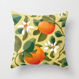 Summer Orange Throw Pillow