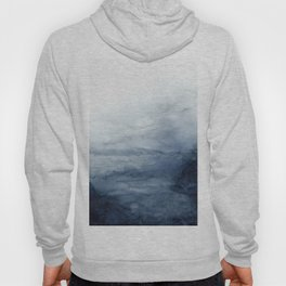 Indigo Abstract Painting | No.2 Hoody