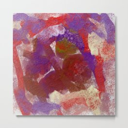 Purple and Red Abstract Metal Print