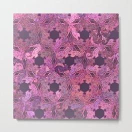 Seahorse Spiral in Pink Metal Print