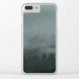 The Mist Shrouded Peak Clear iPhone Case