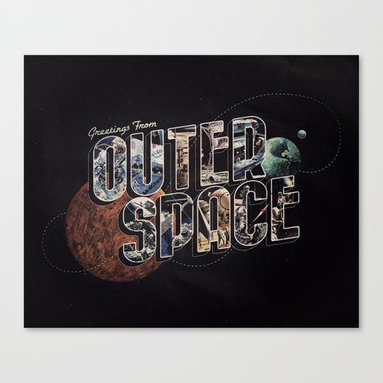 Greetings From outer Space (color 02) Canvas Print