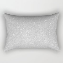 Pastel Grey Glitter Rectangular Pillow