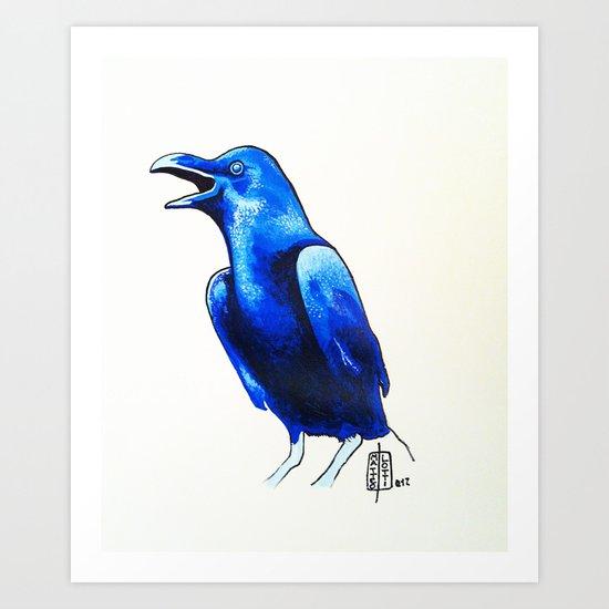 Corvo Blu Art Print