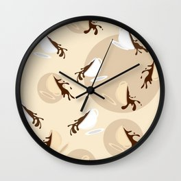Flying coffee cups Wall Clock
