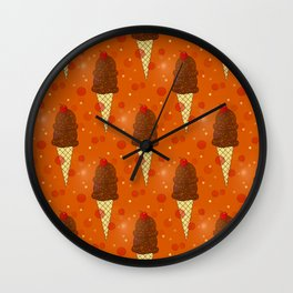 Chocolate Scoops Pattern Wall Clock