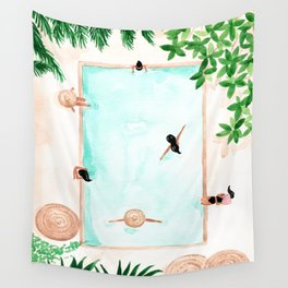 Pool Day Wall Tapestry