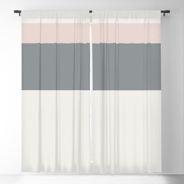 A particular association of Alabaster, Philippine Gray, Gray (X11 Gray) and Light Grey stripes. Blackout Curtain