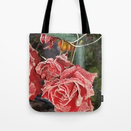 Frostet Roses Tote Bag