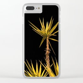 yukka palms in the night Clear iPhone Case