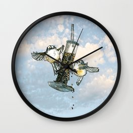 A Pair of Fat Tits Wall Clock