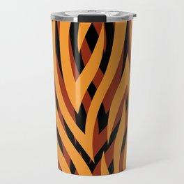 Brown and Gold Tiger Print Travel Mug