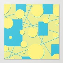 Geo Shape Play in Blueberry Lemonade Canvas Print