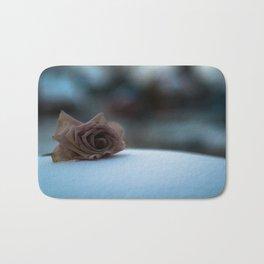 Sad Snow Rose Bath Mat