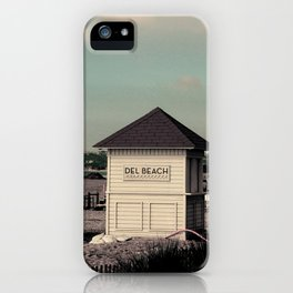 Del Beach Huts iPhone Case